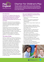 Play England - Charter for Children's Play