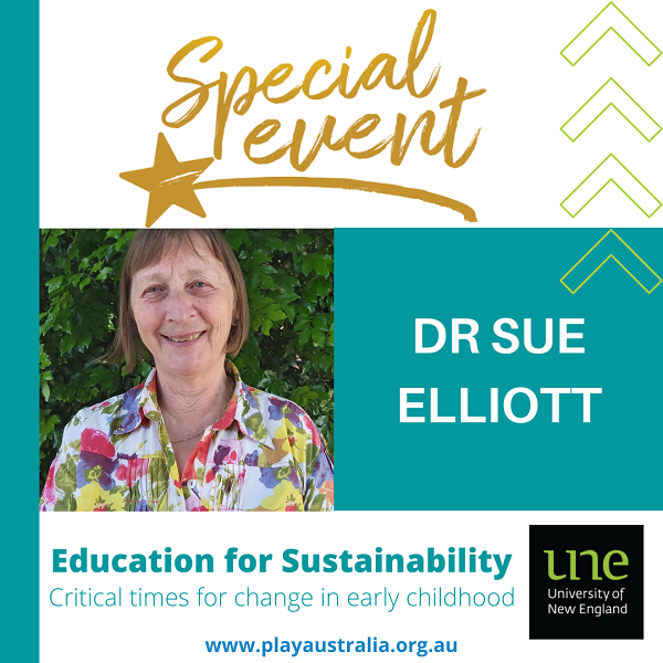 Special event with Dr Sue Elliott presenting Education for Sustainability