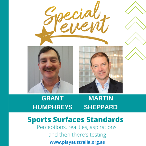 Special event with Grant Humphreys and Martin Sheppard presenting Sports Surfaces Standards